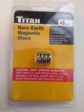 Titan 11176 Rare Earth Magnetic Discs 4pc