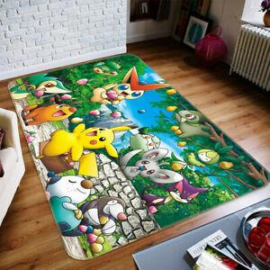 3D Pokemon 566 Japan Anime Game Non Slip Rug Mat Round Elegant Carpet