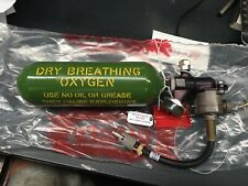 Aircraft Airplane Emergency Dry Breathing Oxygen Tank And Fittings Gauge