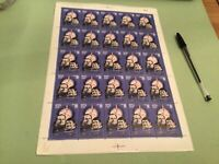 Russia  stamps sheet   minor damage sent folded  Ref 51076