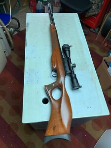 RWS Diana Model 470-TH .177 Airgun With 3 x 9 Scope and Case NICE