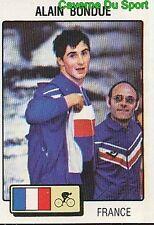 113 ALAIN BONDUR CYCLISME PISTE VIGNETTE STICKER GOOFY OLYMPIQUE 1980 PANINI