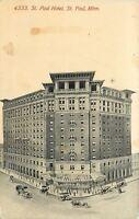 St Paul Minnesota~St Paul Hotel~Artist View~1908 Acmegraph Postcard
