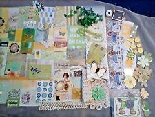 junk journal supplies (165+), paper, trims, tags, buttons, ephemera, etc