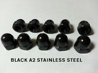 BLACK STAINLESS STEEL DOME NUTS A2-70 Stainless Steel M3 M4 M5 M6 M8 M10 M12