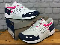 ASICS MENS UK 10 EUR 45 GEL-LYTE WHITE PEACOAT TRAINERS RETRO CASUALS RRP £90 J