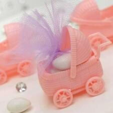 12 pcs Pink Plastic Carriage Girl Baby Shower Favors Party Birthday Decorations