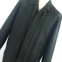 Next Men's UK 46 Inch Chest Black Cotton Jacket (Regular)