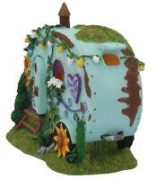 Caravan Fairy House With Opening Door Fairies Magical Garden Ornament