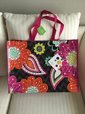 Vera Bradley Market Tote Ziggy Zinnia NWT Eco Recycled Reuse Grocery Christmas