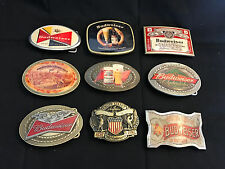 Collectible Budweiser Lot of 9 Belt Buckles Buckle Beer Anheuser-Busch