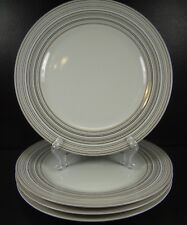 Mikasa Microstripe Porcelain Set of 4 Dinner Plates Multiple Sets Available