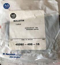 New Allen Bradley 40392-400-15 100 AMP Disconnect Switch Hardware Kit