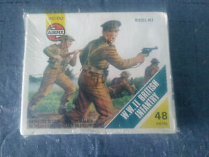 AIRFIX WW2 BRITISH INFANTRY Vintage 1973 Blue Box S3 OO 1/76 Scale 48 Pieces