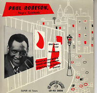 45TRS VINYL 7'' / RARE FRENCH EP PAUL ROBESON / CHANT DU MONDE / OLD MAN RIVER