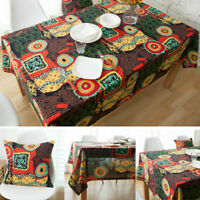 Boho Style Cotton Linen Tablecloth Square Rectangle Table Cloth Cover Home Decor