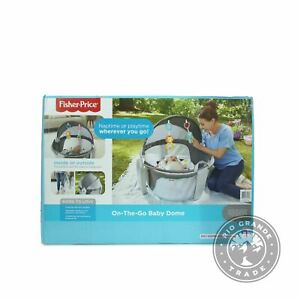NEW Fisher-Price DRF13-0950-G1 2 in 1 Baby Dome in Gray / Blue / Yellow / White