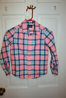 Boys S 5 / 6 CHILDRENS PLACE Long Sleeve Shirt Button multi Plaid Fall  EUC