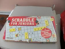 VINTAGE SCRABBLE FOR JUNIORS BY SPEARS GAMES 1958 COMPLETE