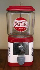 Vintage Coca Cola Oak Gumball MachinePreowned, Pat. 2537317