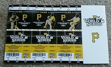 2013 Pittsburgh Pirates World Series Ticket Stubs