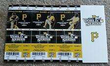 2013 Pittsburgh Pirates World Series Ticket Stubs