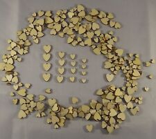 50 pcs Mini Small Mix Rustic Wooden Love Heart Wedding Table Scatter Decoration