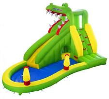 Bounceland Crocodile Creek 15ft Inflables Castillo Inflable Tobogán De Agua Con Ventilador