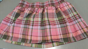 Faded Glory pink, red, green skort sz M (7-8)