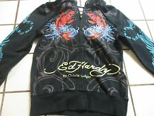 Ed Hardy Zip Up Hoodie Sweater Pullover XSmall Vintage Style 90's
