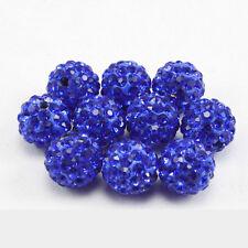 50PC 10mm Multicolor SHAMBALLA Perlen Beads Shining Loose Beads