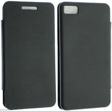 Blackberry Z10 BB10 Pelle Custodia Cover POUCH Maniche Wallet FLIP Pelle Retro GEL