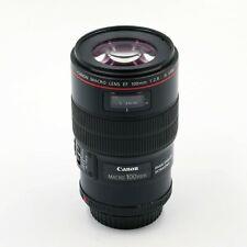 Canon EF 100mm 1:2,8 USM L is macro lente para Canon EF-usado