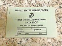 U.S. Marine Corps Rifle Marksmanship And Data Book // M16 // M16A2 5.56MM