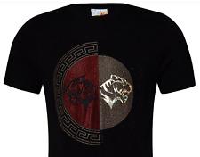 Men's Beautiful Rhinestone Stretch T Shirt,Italian Style....B2
