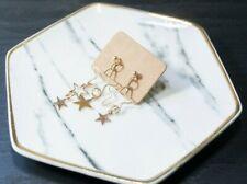 Handcrafted Elegant Korean Style Star Dangling Earring (Gold)
