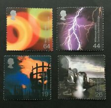 1999 Great Britain Fire And Light Stamp Set. Lightning Bolt, Dynamic Earth