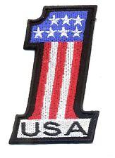 USA 1 patch badge hot rod drag race motorcycle #1 kustom kulture