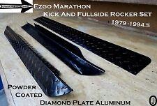 ezgo Marathon Golf Cart Powder Coated Diamond Plate Fullside Rockers & kick Set