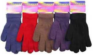 Unisex Children Magic Stretch Winter Warm Acrylic One size Soft Gloves Gift