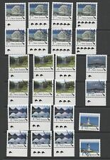 New Zealand 2010 - scenic definitives Mint & Used complete range marginal stamps