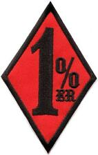 One Percenter 1%er biker outlaw motorcycle gang applique iron-on patch S-1178