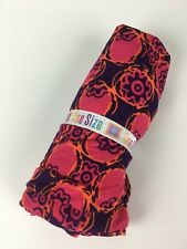 LuLaRoe OS Leggings Bright Pink Purple Orange Abstract Floral Womens Stretch