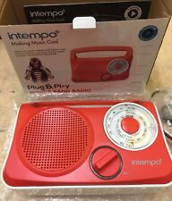Intempo Plug & Play. Wave 3 Band Radio AM/LW/FM Red & White -Get For Christmas