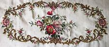 EP 3443/1 Rose Floral Piano Bench Seat Vintage Needlepoint Canvas