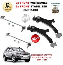 FOR CHEVROLET CAPTIVA 2006>ON 2x FRONT WISHBONE ARMS + FRONT STABILISER LINK BAR
