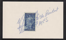 W.J. Usery, US Secretary of Labor, signed & inscribed 3c Labor Day Stamp