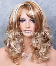 Beautiful Wavy Curly Layered Wig Strawberry and pale Blonde mix JSBD 27-613