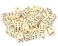 50 Ivory Dice, 12mm , D6 (6 sided)