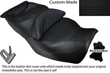 BLACK STITCH CUSTOM FITS HONDA GOLDWING GL 1500 88-00 DUAL LEATHER SEAT COVER